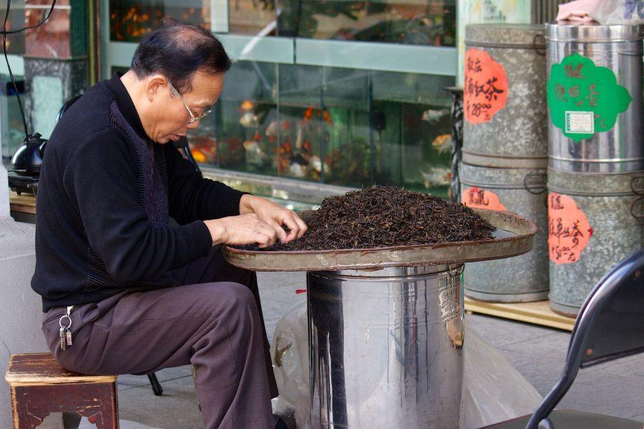 chaozhou tea sorting
