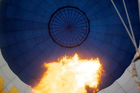 hot air balloon flame