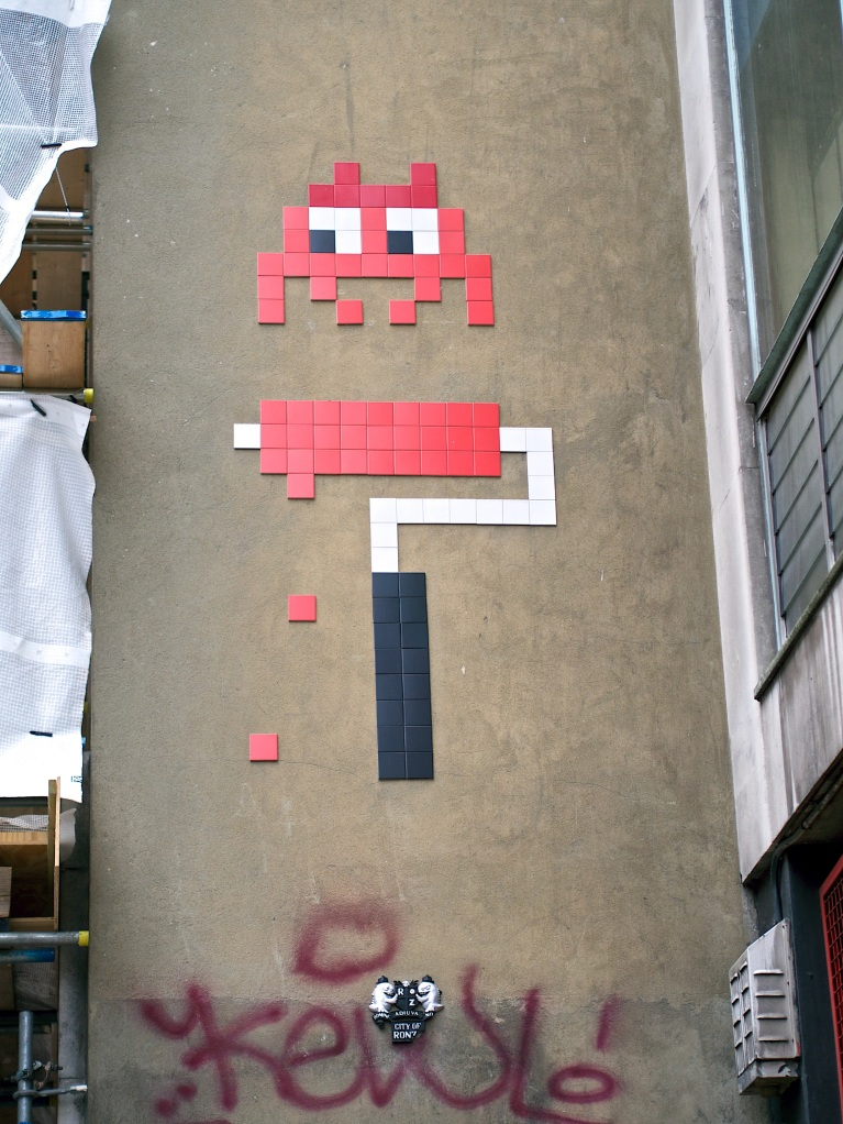 space invader paint roller