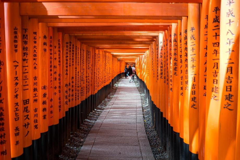 fushimi inari-taisha torii writing