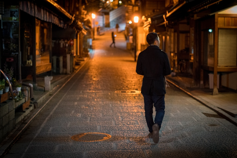 gion at night man